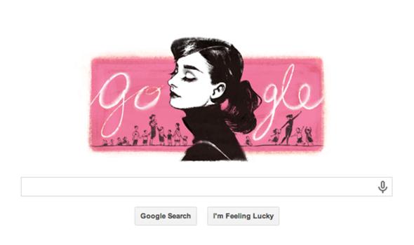 Google Doodle Audrey Hepburn Birthday