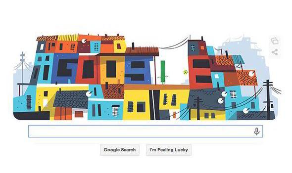 Google Doodle Brazil World Cup Favela